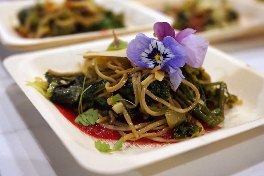 Taste of Europe- food with flowers