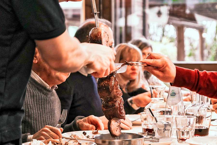 Serving meat - Taste of South America