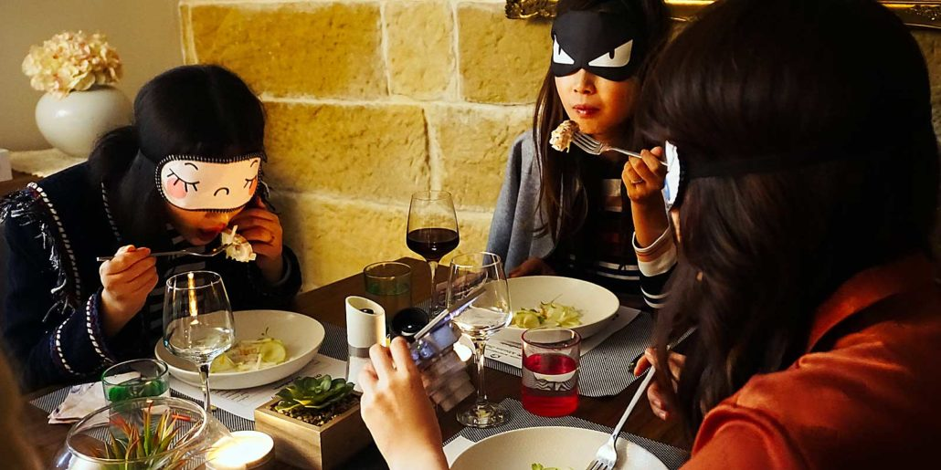 team building ideas - blindfolded dinner