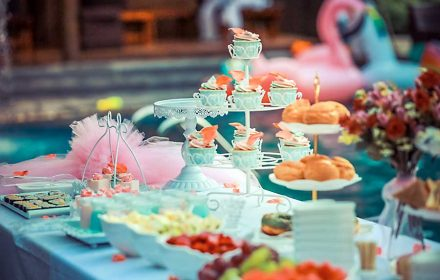 Corporate catering - high tea table