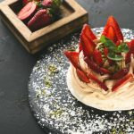 Australian dessert - Pavlova with strawberries