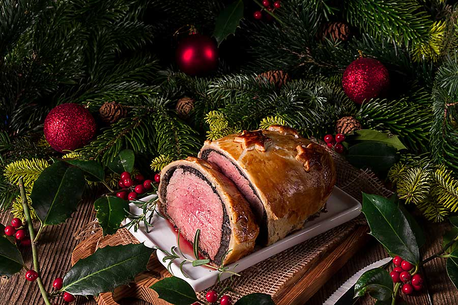 European Christmas flavour - Beef Wellington