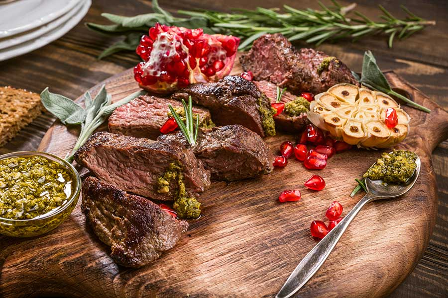 Australian cuisine - delicious kangaroo steak