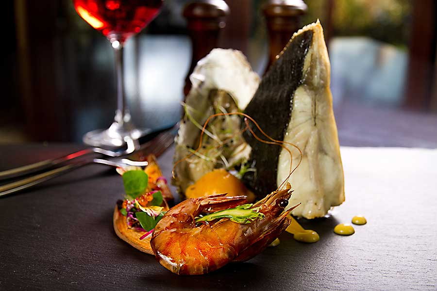Seafood from Australia - shrimp, oyster and fish. Seafood is very important in Australian cuisine