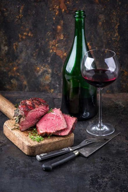 Australian wagyu beef steak and wine - taste of Australia