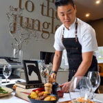 Corporate catering - chef cooking on site