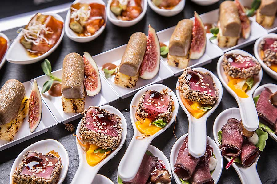 Corporate catering gourmet Canapés