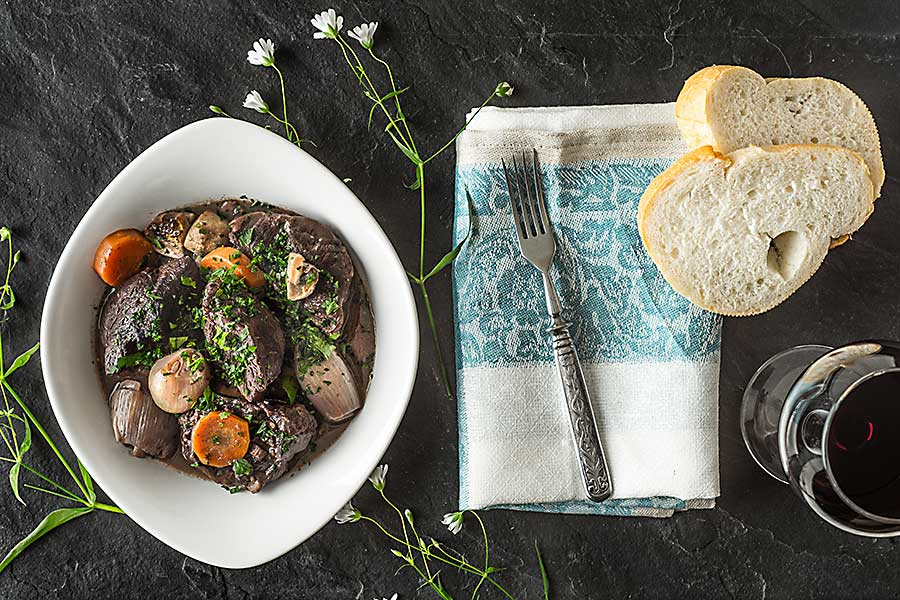 French dish - beef Bourguignon