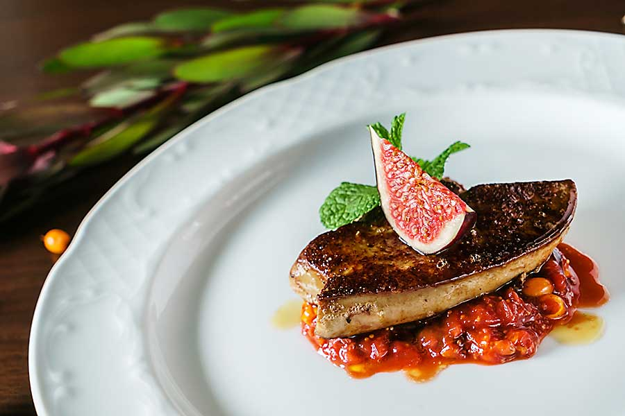 Taste of France -fried Foie Gras with figs