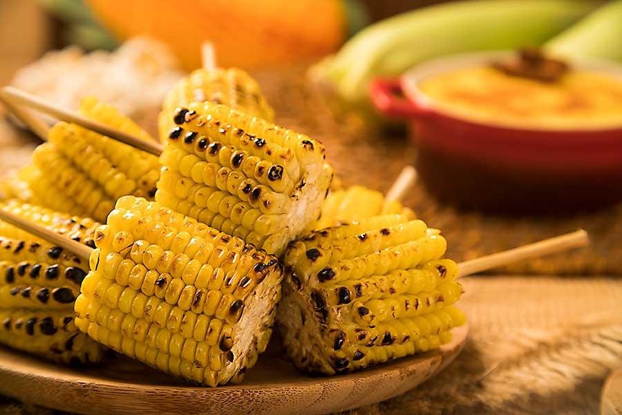 Brazilian churrasco corn