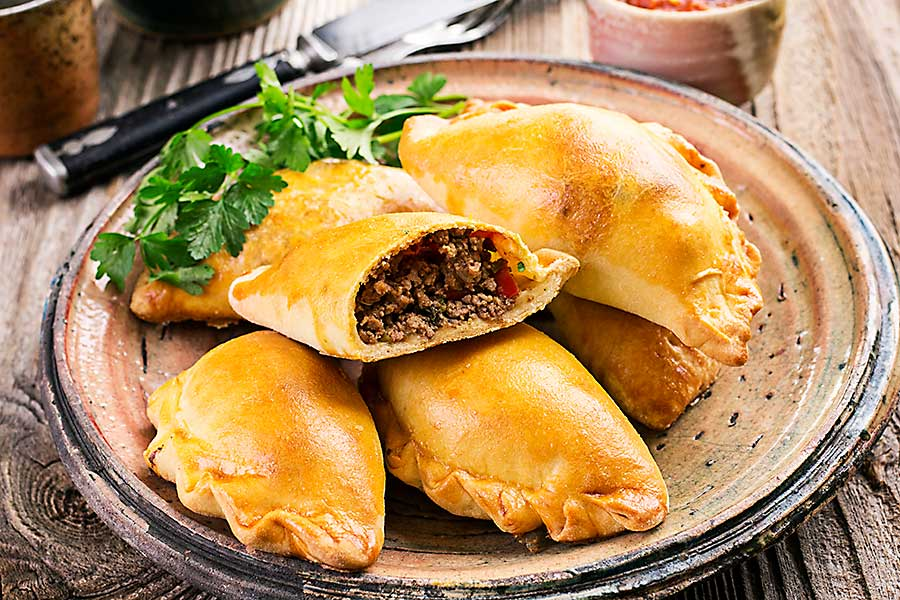 Brazilian food - empanadas with ground meat