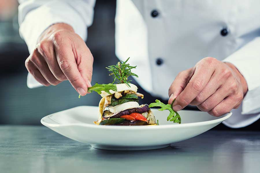 Brisbane event - chef plating