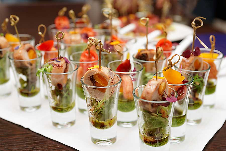 Canapes corporate catering