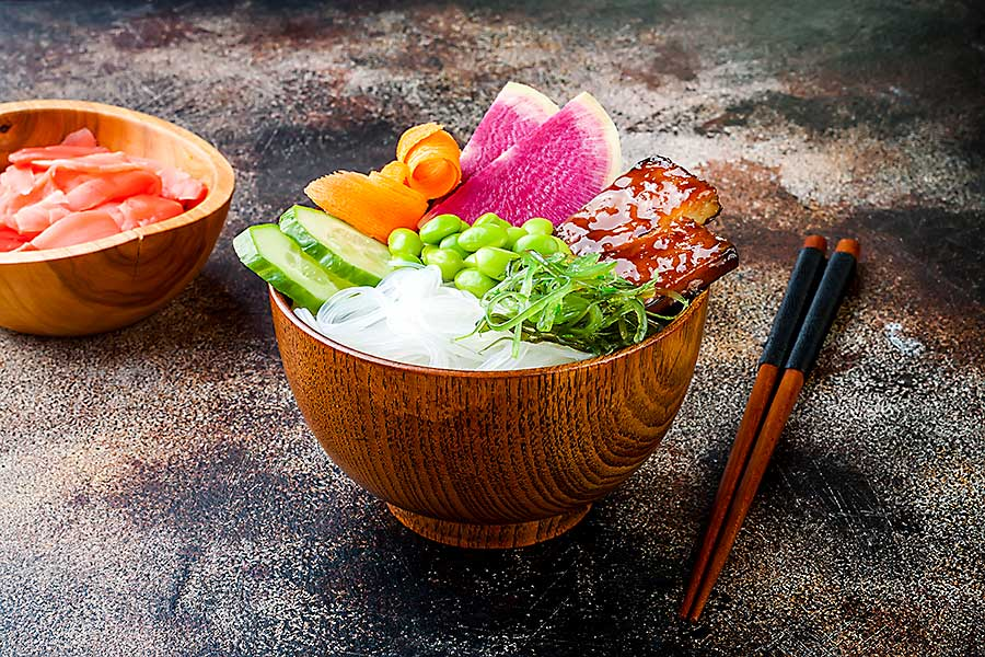 Colourful food - poke bowl