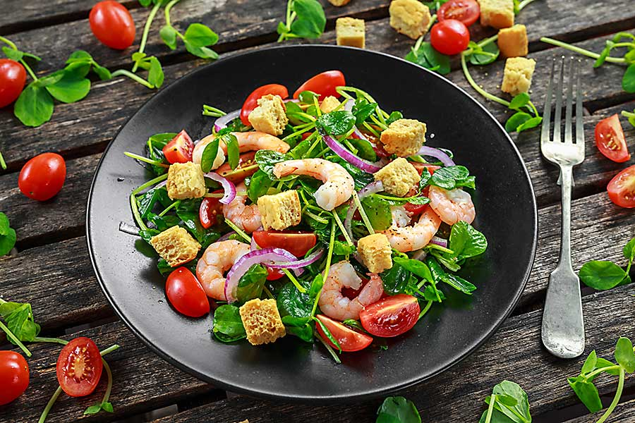 Colourful food - healthy salad