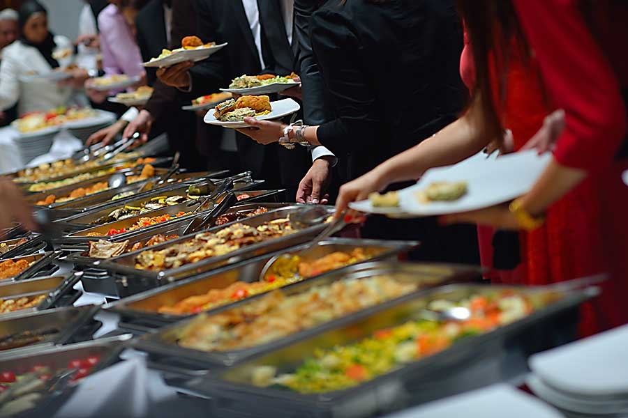 Corporate catering buffet style