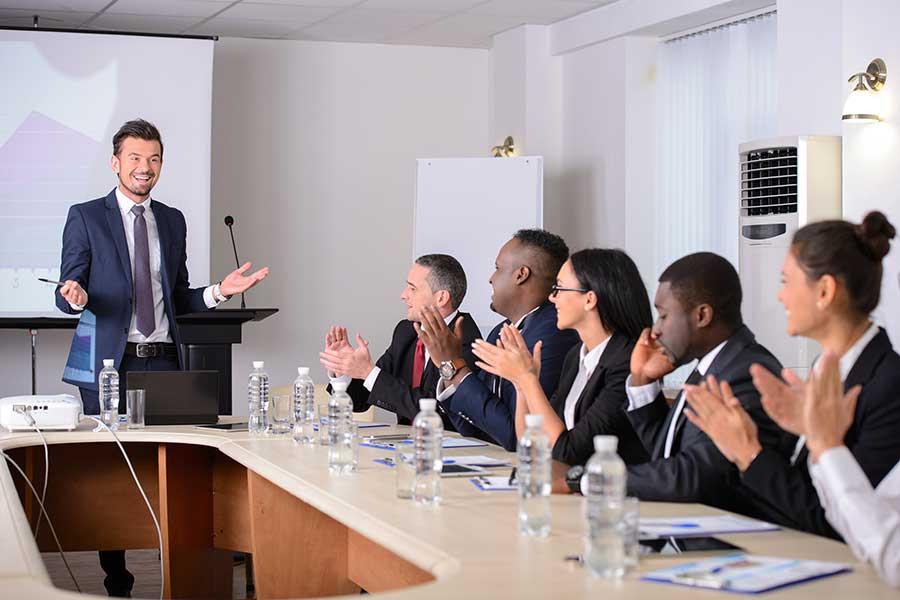 Corporate workshop meeting