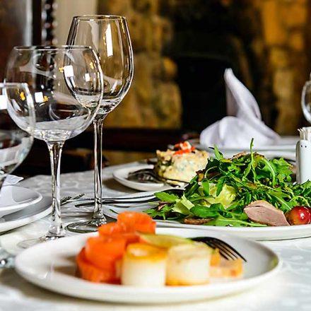 Gala dinner gourmet food