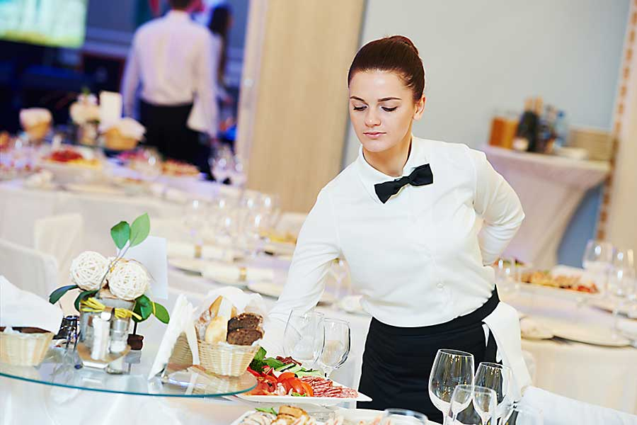 Gala dinner service