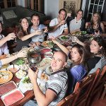 Social dinner - friends meeting