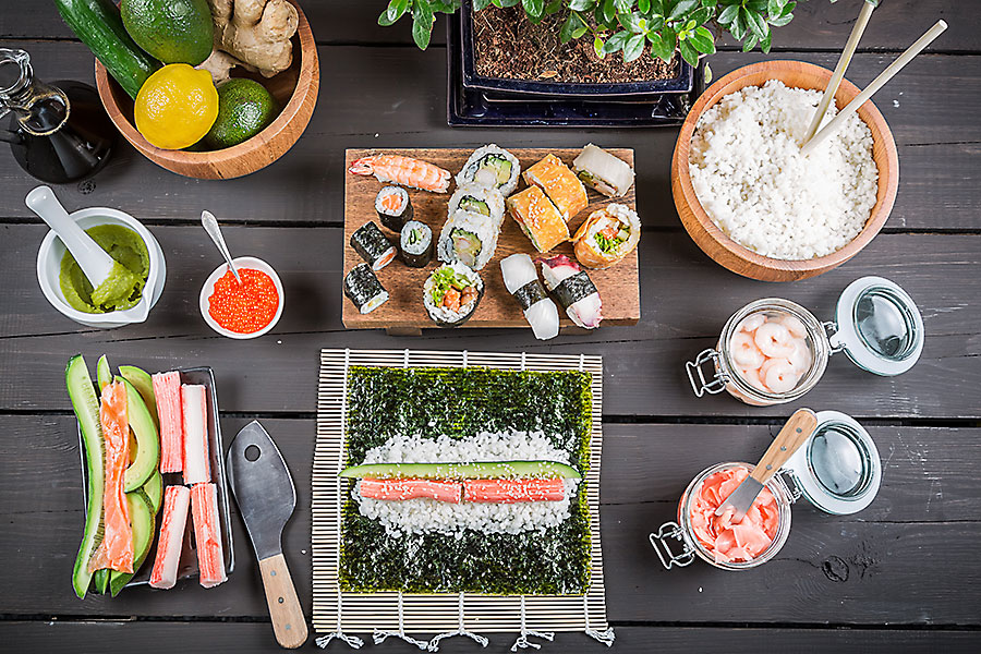 Corporate catering - delicious Japanese food