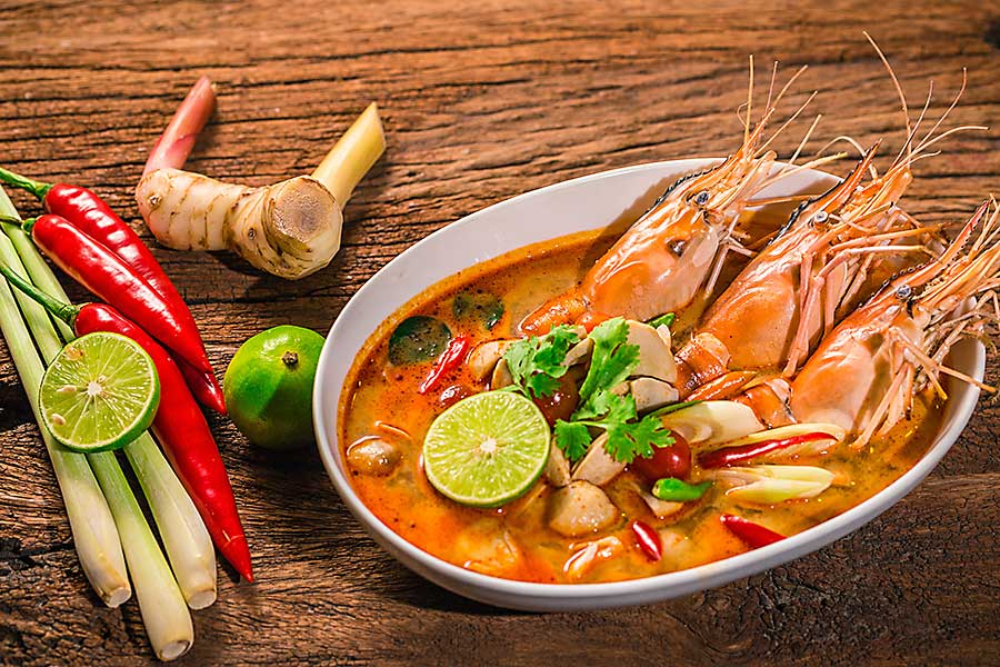 Tom Yum Goong - Thai hot spicy soup