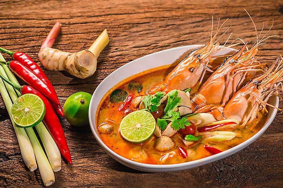 Tom Yum Goong - Thai hot spicy soup