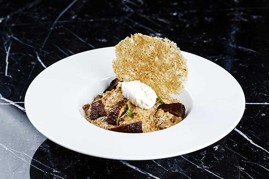 Truffles risotto - famous Italian dish
