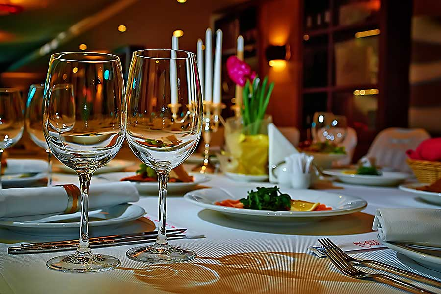 Board meeting table setting