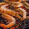 Charcoal BBQ seafood