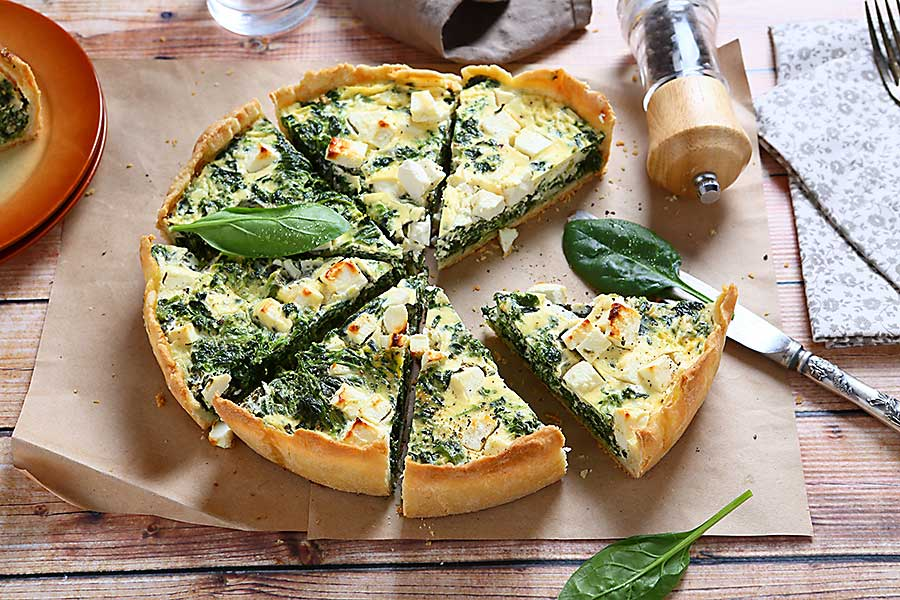 quiche with spinach