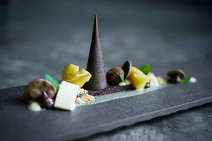 Beautifully plated dessert
