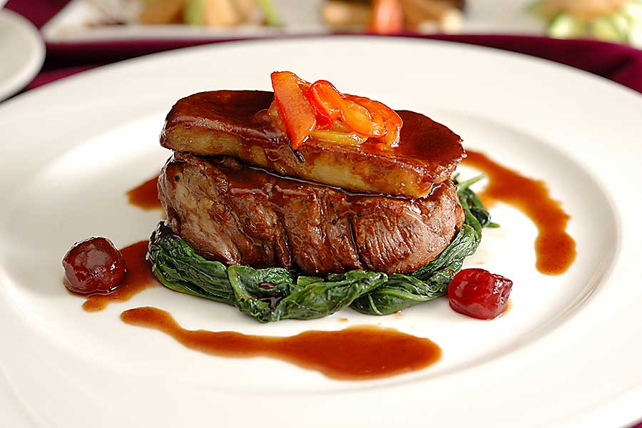 Beef Rossini - dish closeup