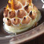 Bombe Alaska - plated dessert