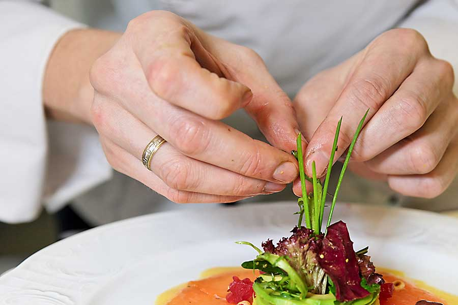 carpaccio plating
