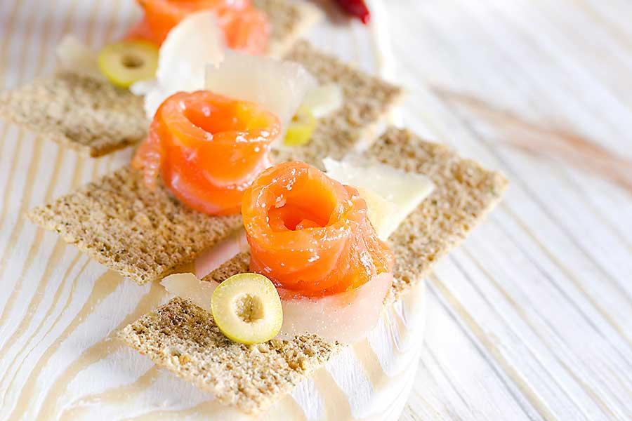 Gravlax is a salmon base dish characteristic for the Scandinavian cuisine