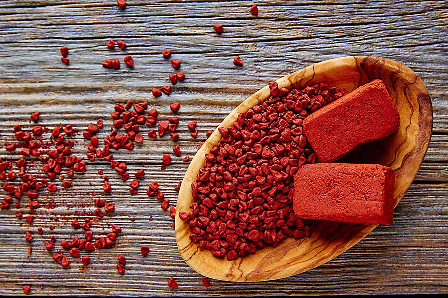 Annato seed and achiote seasoning from annatto
