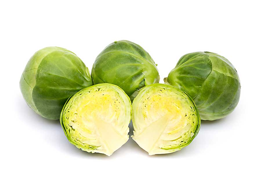 Fresh Brussels sprouts close-up