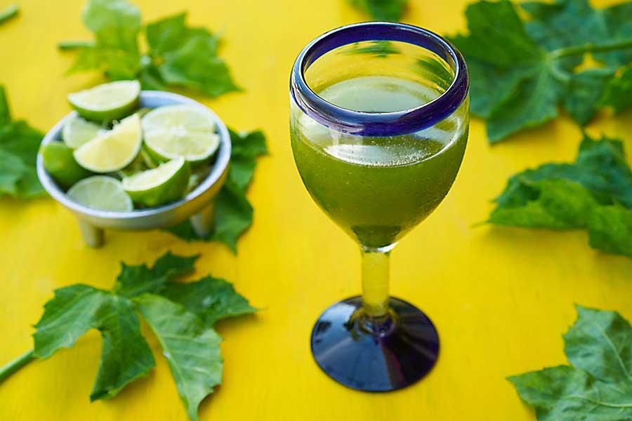 Chaya juice with lime