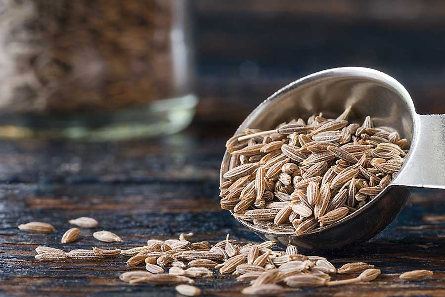 Cumin seed in the bowl