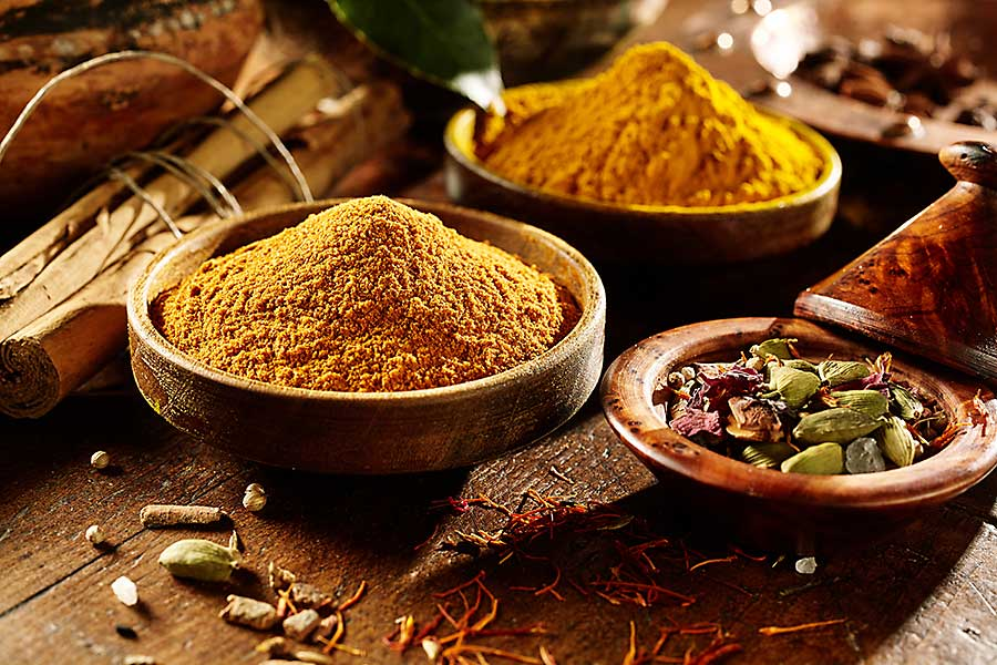 Curry powder in the kitchen
