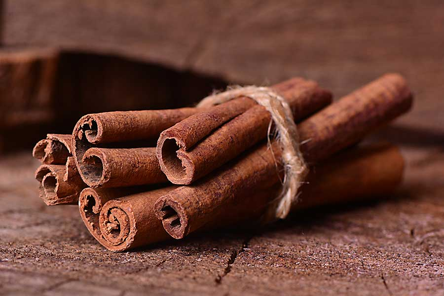 Dried cinnamon tree bark