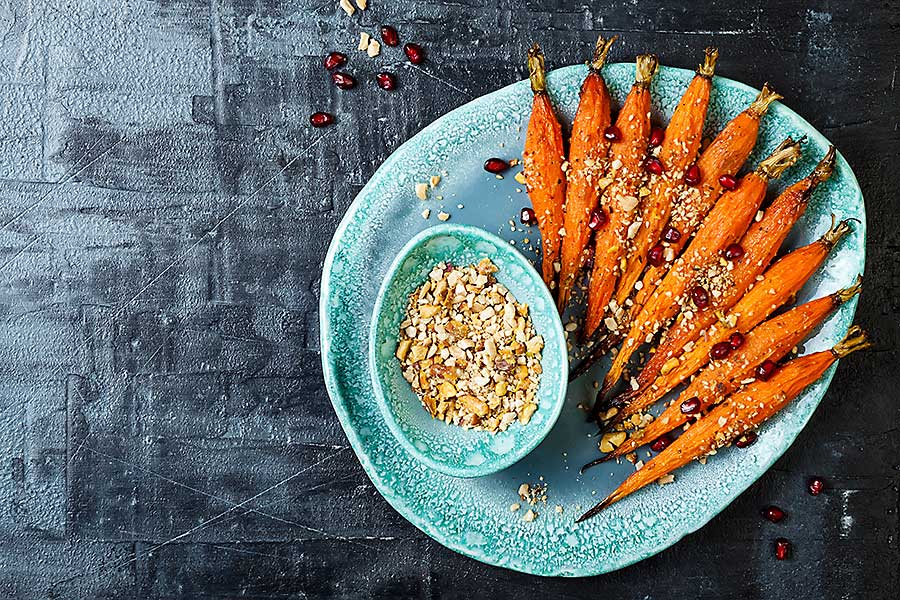 Dukkah with carrots