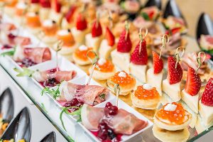 Finger food on a corporate event