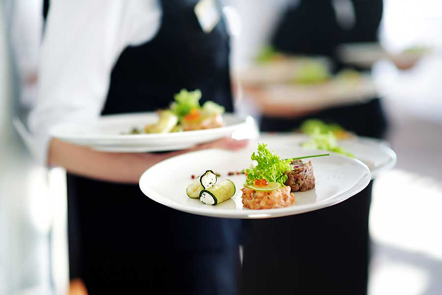 Boardroom lunch catering with full service
