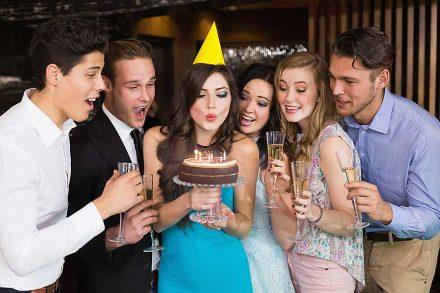Birthday party catering, birthday cake station