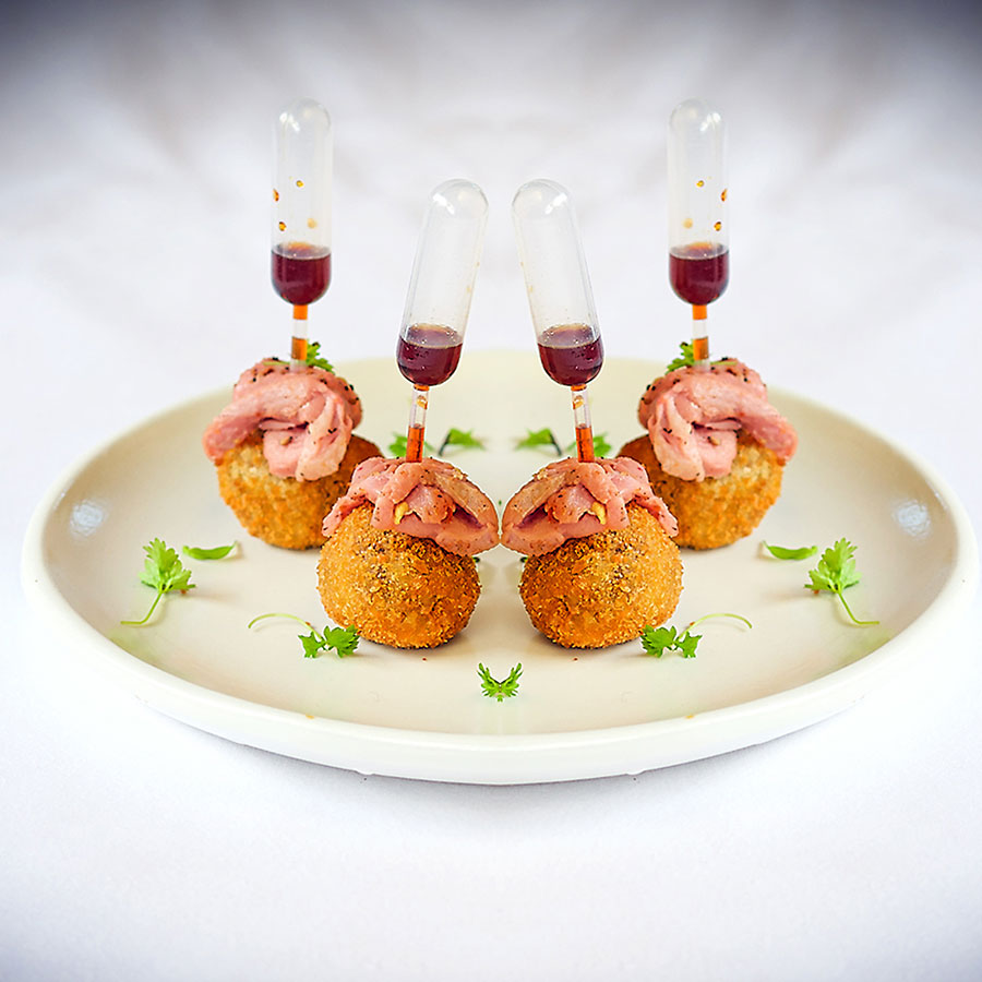 Smoked duck breast on croquette by CHEFIN