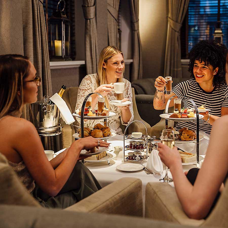 High tea social meeting
