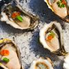 Oysters, smoked roe, lemon balm by CHEFIN