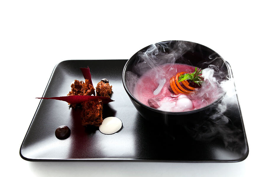 Modern art-cuisine for business meeting and lunch
